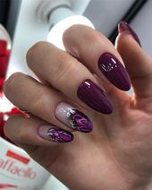 Pretty & Easy Gel Nail Designs to Copy in 2019 Gel nail designs is an artificial nail that is closest to natural nail art. The gel nail is similar Work Nails, Fun Nails, Pretty Gel Nails, Cute Almond Nails, Natural Nail Art, Wedding Nail Polish, Nailart, Short Gel Nails, Gel Nagel Design