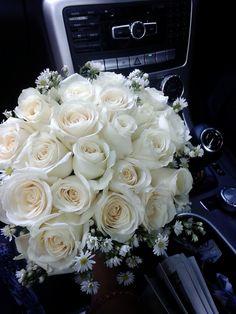 #white #roses