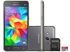 Smartphone Samsung Galaxy Gran Prime Duos 8GB - Dual Chip 3G Câm. 8MP + Selfie 5MP + Cartão 32GB