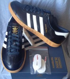 """BNWBT RARE DEADSTOCK ADIDAS HAMBURG """" MIG """" MADE IN GERMANY NAVY UK 7 in Vêtements, accessoires, Hommes: chaussures, Baskets   eBay"""