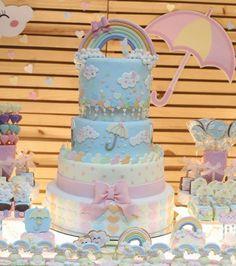"4,362 curtidas, 40 comentários - @ideiasdebolosefestas (@ideiasdebolosefestas) no Instagram: ""Bolo maravilindooo da @adryannejayme. . #ideiasdebolosefestas #chuvadeamor #chuvadebencaos…"" Inspire Sua Festa, Love Rain, Beautiful Cakes, Amazing Wedding Cakes, Amazing Cakes, Welcome To The Party, Happy Baby, Girl Cakes, Baby Shower Cakes"