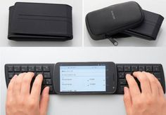 Pocketable folding wireless keyboard