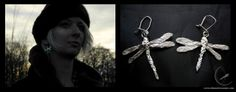 Small silver earrings, based on real meadow dragonflies. They are quite delicate, just as the real creatures. They even feel real :) Fot. Tomek Firydus
