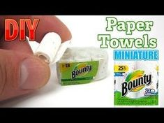 DIY rolls Paper Towels for Dollhouse - YouTube