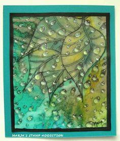 leafy wayer droplets by Ryn