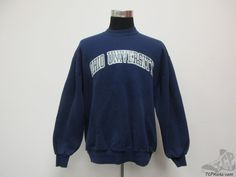 Vtg Russell Athletic Ohio Bobcats Crewneck Sweatshirt sz XL Extra Large Blue #RussellAthletic #OhioBobcats #tcpkickz