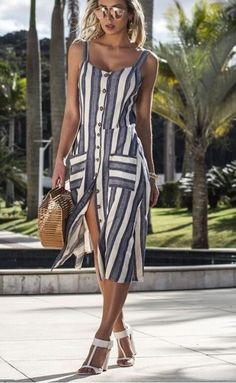 Wrap Dress, Stylists, Stripes, Summer Dresses, Chic, Pink, Outfits, Women, Fashion