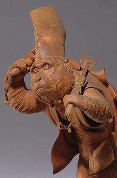 Japanese wooden monkey