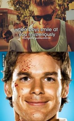 When boys smile at you mysteriously