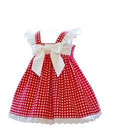 The Pocket Full of Rosies Baby Bubble is one our bestselling baby bubbles. This gorgeous creamy rose and polka-dot fabric is gorgeous. The baby bubble is full of details such as an elasticiized back bodice, a large bow that adorns the front, snaps in the crotch, and flutters along the shoulder seams. The bubble is not only cute and cuddly, but is also comfortable for both mother and child. The shoulder straps button in the front, and includes two buttons for a great fit.