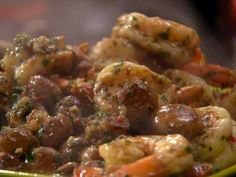 Shrimp and 'Shrooms with Sherry. . . / Rachael Ray via foodnetwork. This sounds *really* good, maybe on rice or toast points.