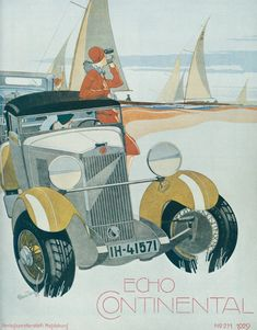 Echo Continental Cover (1929): Graphic by Bernd Reuters