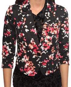 abstract floral print blazer - forever 21 $24.80!