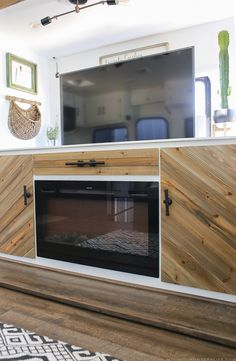 rustic modern cabinet with tv lift media cabinet rv and rustic modern