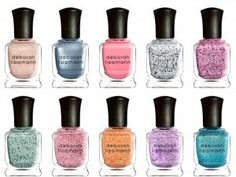 Deborah Lippmann Spring/Summer 2013 Nail Polishes, how pretty, and I would love to try different colors on my nails! :-)