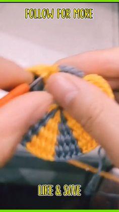 Crochet Quilt, Granny Square Crochet Pattern, Crochet Stitches Patterns, Easy Crochet, Crochet Flower Tutorial, Crochet Instructions, Flower Crochet, Granny Square Häkelanleitung, Crochet Dinosaur