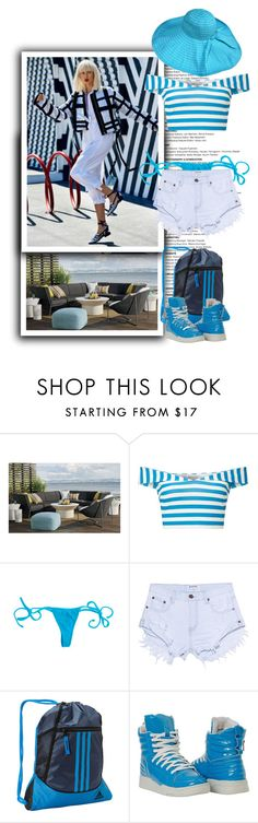"""""""Summer should get a speeding ticket!"""" by terrelynthomas ❤ liked on Polyvore featuring Crate and Barrel, KAROLINA, Miss Selfridge, One Teaspoon and adidas"""