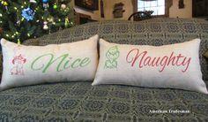 Grinch Christmas Pillows Burlap Pillows by AmericanTradesman