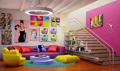the art Pop | Figura 1: Pop art Aplicado a uma sala
