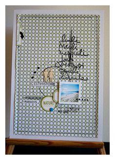 DIGITAL SCRAP : Scrapbooking - Page Hybride n° 334