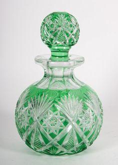 "Dorflinger cut glass ""Marlborough"" pattern bottle. C.1852-1921. : Lot 1133"