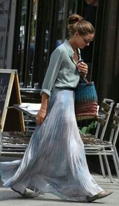 Maxi skirt and plissè