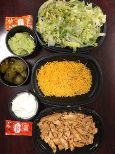 Side of chicken, side of cheese, side of lettuce, side of sour Verne,… - Vegan Fast Food Ketogenic Recipes, Low Carb Recipes, Diet Recipes, Healthy Recipes, Cooking Recipes, Ketogenic Diet, Easy Recipes, Healthy Meal Prep, Healthy Snacks