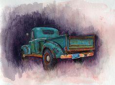 Truck Print by NeonRocketeers on Etsy, $15.00