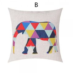 Deer sofa cushions abstract style colorful geometric decorative pillows