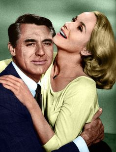 """Cary with Eva Marie Saint ...perhaps a shot from """"North x Northwest"""" - or, as I like to think of them , """"Mr. & Mrs. Roger O. Thornhill"""" <3"""