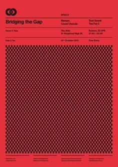 Bridging The Gap – Poster Designs – Ross Gunter Bold Typography, Typography Layout, Typography Poster, Simple Poster, Minimal Poster, Graphic Design Posters, Graphic Design Inspiration, Poster Designs, Graph Design