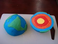Layers of the Earth- cross section made out of play-doh