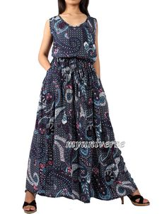 Cotton Maxi Dress Long Dress With Pockets Dress Party Summer Gifts Floral Beach Prom Day Out Night Graduation Wear To Work