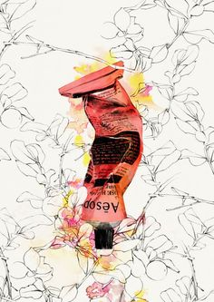 Illustration by Spiros Halaris for Aesop Beauty products