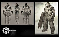 ArtStation - GOW Dom, James Hawkins Character Concept, Concept Art, Character Design, James Hawkins, Princess Twilight Sparkle, Gears Of War, Sketch Painting, Cogs, Shadowrun