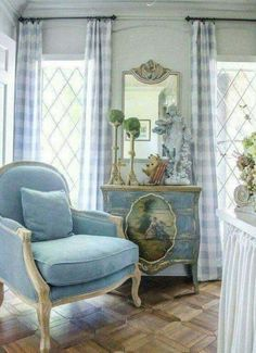 The Study Renovation Final Reveal Edith & Evelyn Vintage French Country Bedrooms, French Country Living Room, French Country Cottage, Country Style, French Living Rooms, Country Kitchen, French Decor, French Country Decorating, Swedish Decor