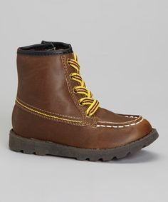 Take a look at this Brown Bait Boot by Carter's on #zulily today!