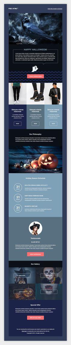 Halloween Flat Purple Email Template