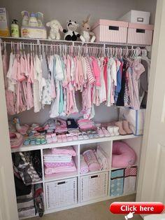 Baby Nursery Closet, Baby Girl Closet, Kid Closet, Baby Bedroom, Girl Nursery, Closet Ideas, Room Baby, Nursery Room, Elephant Nursery
