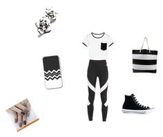 """""""Black and white"""" by jennaick on Polyvore featuring Converse and NIKE"""