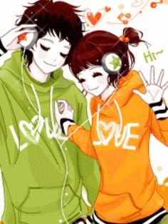 J Enakei Life as Art: Pretty Korean Cartoons Couples In Love, Girls In Love, Korean Illustration, Friend Anime, Lovely Girl Image, Cool Anime Girl, Anime Girls, Gifs, Anime Japan