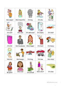 Adjectives Bingo set worksheet - Free ESL projectable worksheets made by teachers Bingo Set, English Adjectives, Teaching Jobs, Bingo Cards, Reading Skills, Phonics, Elementary Schools, Esl, Vocabulary