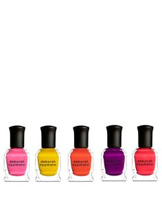 Mini Polish Set 5 Fun Neon Hues by Deborah Lippmann on Gilt.com