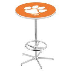 Clemson Tigers Retro-Style-Base Pub Table. Visit SportsFansPlus.com for a Discount Coupon.