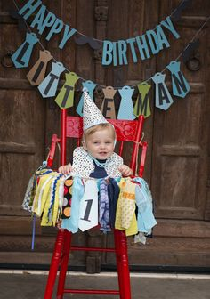 First Birthday Little Man Banners, Boys High Chair & Birthday Banners, Mustache Ties, Smash Cake Boys Birthday Party photo Props, 3 banners