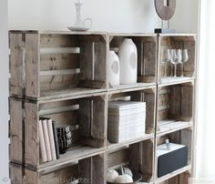DIY crate shelf. Love it!