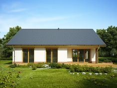 DOM.PL™ - Projekt domu FA LUKRECJA CE - DOM GC6-03 - gotowy koszt budowy Gazebo, Outdoor Structures, Cabin, House Styles, Outdoor Decor, Home Decor, House, Kiosk, Decoration Home