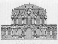 Elevation of Pöppelmann's Zwinger, Dresden