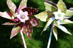 DIY Wedding Pinwheels to line outdoor wedding isle