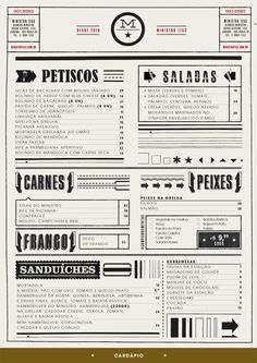 Creative Restaurant, Menu, Layout, Fun, and Typography image ideas & inspiration on Designspiration Cafe Menu, Menu Restaurant, Menu Café, Decoration Restaurant, Restaurant Identity, Menu Book, Restaurant Design, Cafe Signage, Bakery Menu